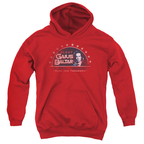 Image for Battlestar Galactica Youth Hoodie - Elect Gaius Baltar