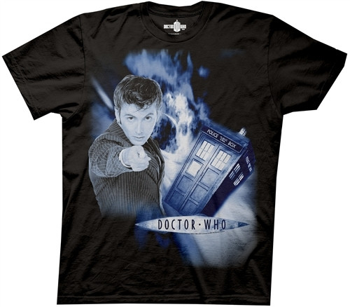 Image Closeup for David Tennant Doctor Who Space Vortex T-Shirt