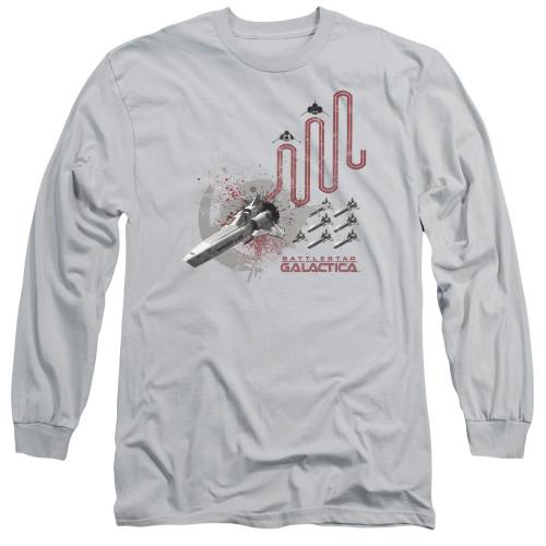 Image for Battlestar Galactica Long Sleeve Shirt - Red Squadron Splatter