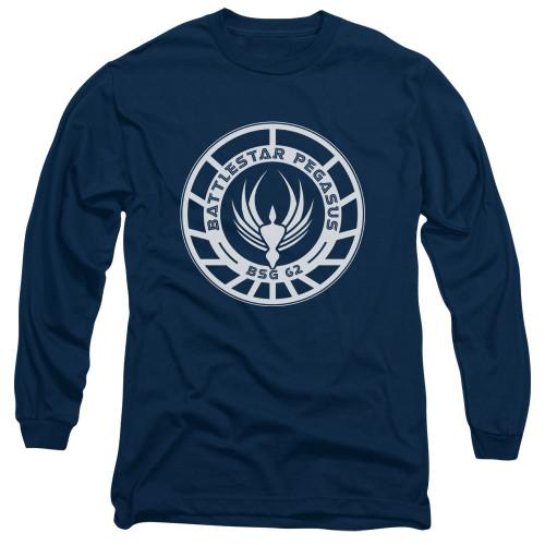 Image for Battlestar Galactica Long Sleeve Shirt - Pegasus Badge