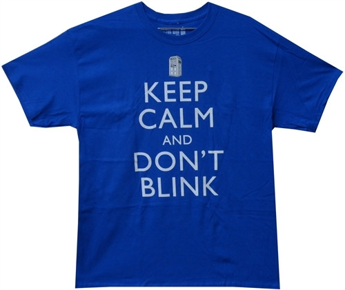 image for Doctor Who T-Shirt - Keep Calm and Don't Blink