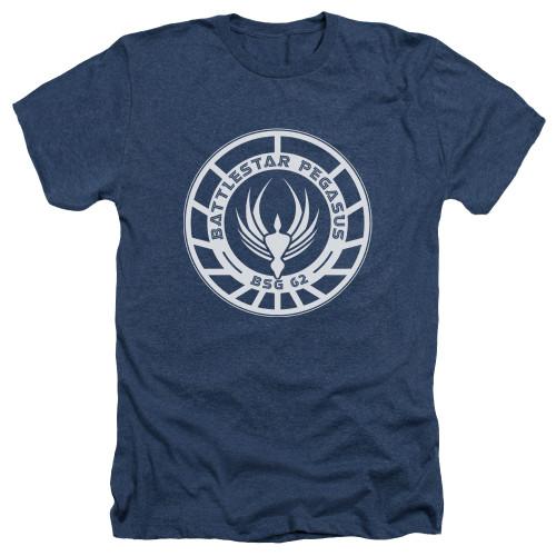 Image for Battlestar Galactica Heather T-Shirt - Pegasus Badge