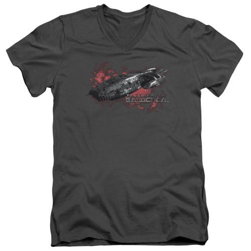 Image for Battlestar Galactica V Neck T-Shirt - the Ship