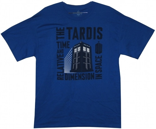 Image for Doctor Who T-Shirt - Time And Relative Dimension In Space