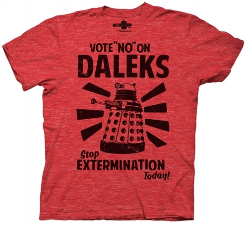 "Image for Doctor Who T-Shirt - Vote ""No"" on Daleks"