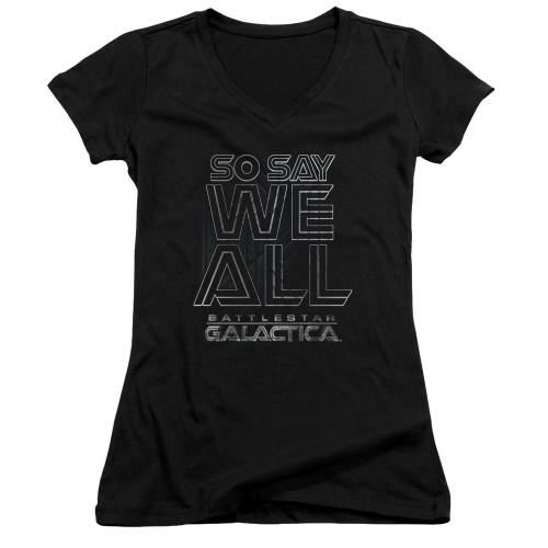 Image for Battlestar Galactica Juniors V Neck - Together Now