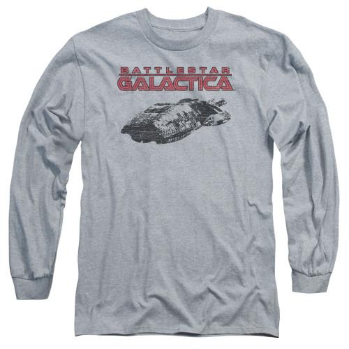 Image for Battlestar Galactica Long Sleeve Shirt - Ship Logo