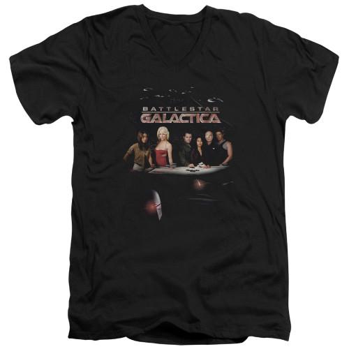 Image for Battlestar Galactica V Neck T-Shirt - Destiny