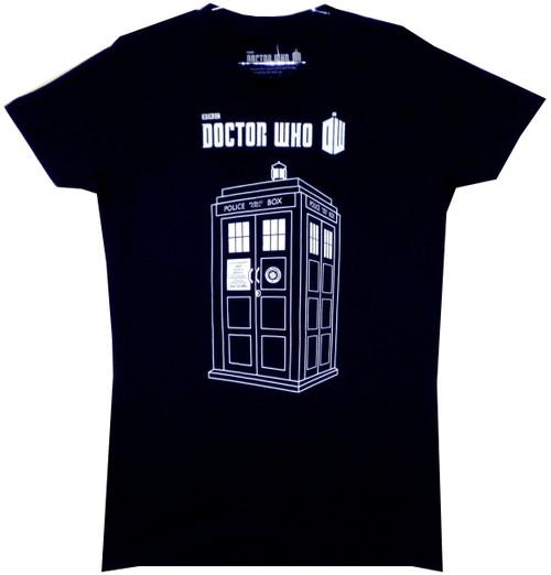 Image for Doctor Who Girls T-Shirt - Linear Tardis Girls T-Shirt