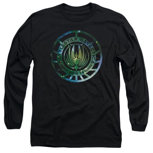 Image for Battlestar Galactica Long Sleeve Shirt - New Galaxy Emblem