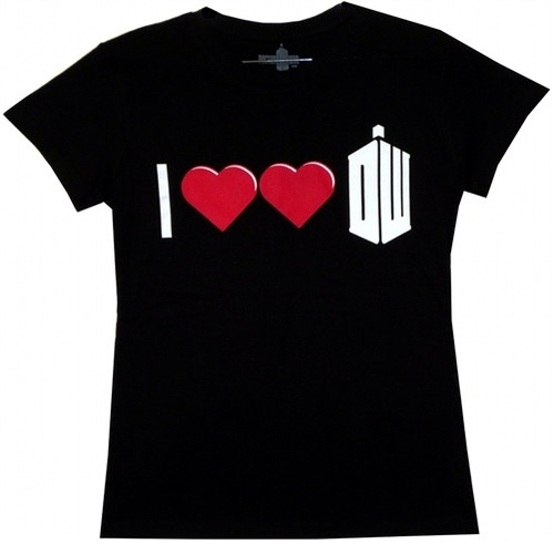 Image for Doctor Who Girls T-Shirt - I Double Heart Doctor Who Girls T-Shirt