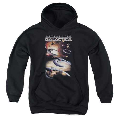 Image for Battlestar Galactica Youth Hoodie - When Cylons Attack