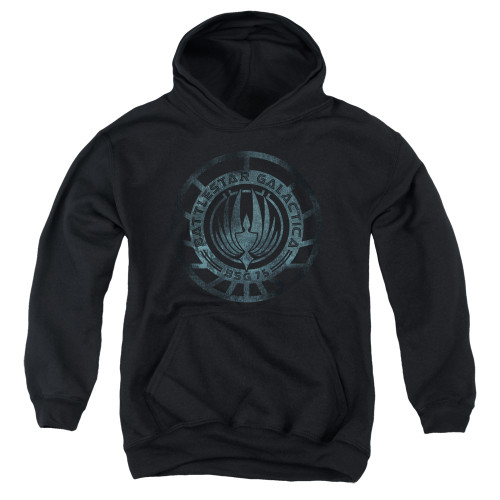 Image for Battlestar Galactica Youth Hoodie - Faded Emblem