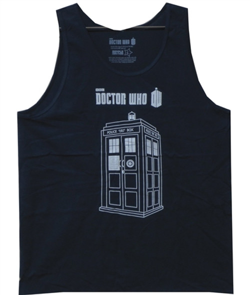 Image Closeup for Doctor Who Tank Top - Linear Tardis