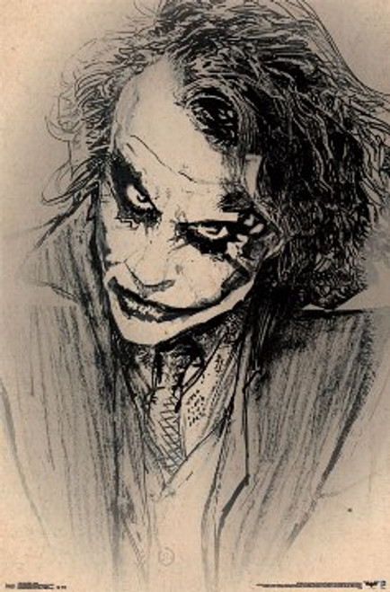 Image for The Dark Knight Poster - Joker Sketch