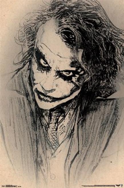 Image for The Dark Knight Poster - Joker Sketch