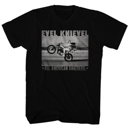 Image for Evel Knievel T-Shirt - Fade Daredevil