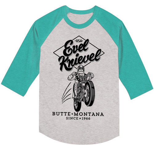 Image for Evel Knievel 3/4 Sleeve T-Shirt - Butte Montana