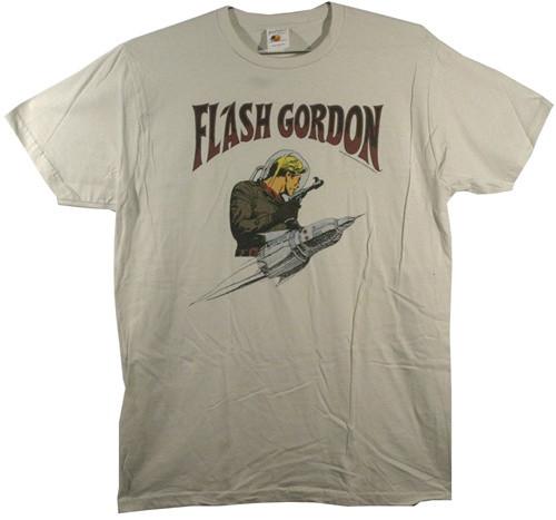 Image Closeup for Flash Gordon T-Shirt - Rocket