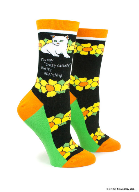 """Image for You Say """"Crazy Cat Lady"""" Like It's a Bad Thing Socks"""
