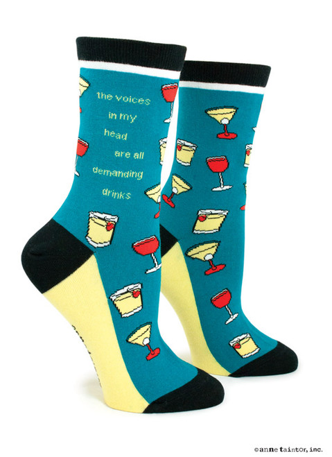 Image for The Voices in My Head Are All Demanding Drinks Socks