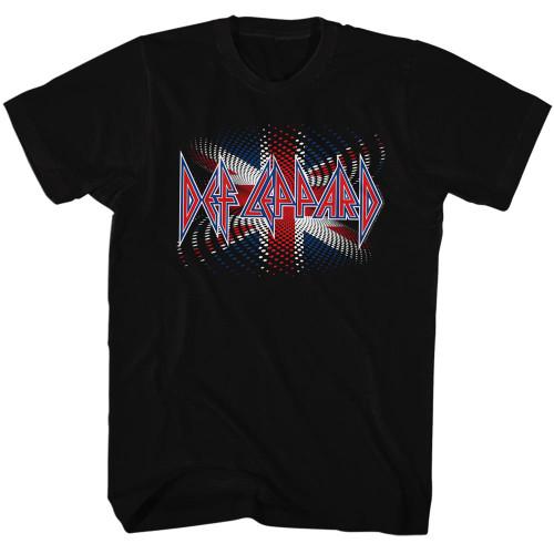 Image for Def Leppard T-Shirt - Union Jack Spiral