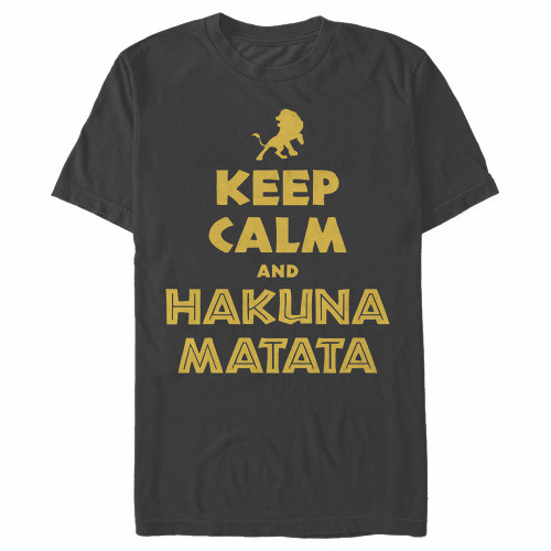 Image for The Lion King Keep Calm and Hakuna Matata T-Shirt