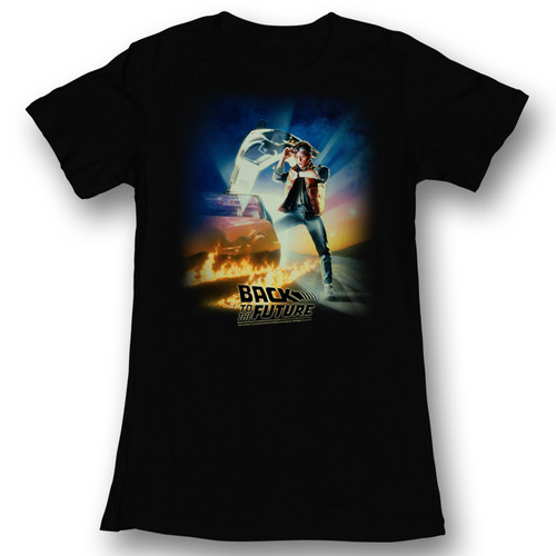 Image for Back to the Future Girls T-Shirt - BTF Poster