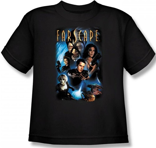 Image for Farscape Comic Cover Youth T-Shirt