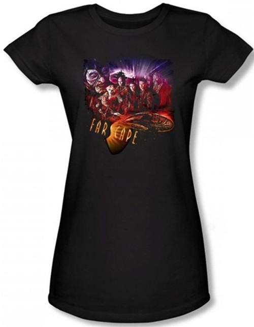 Image for Farscape Graphic Collage Girls Shirt