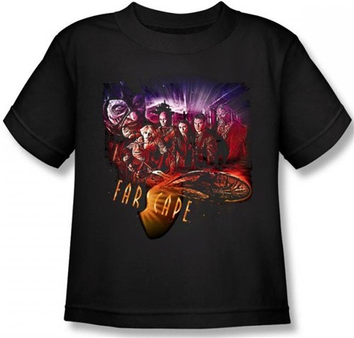 Image for Farscape Graphic Collage Kid's T-Shirt