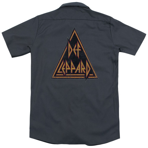 Image for Def Leppard Dickies Work Shirt - Distressed Logo