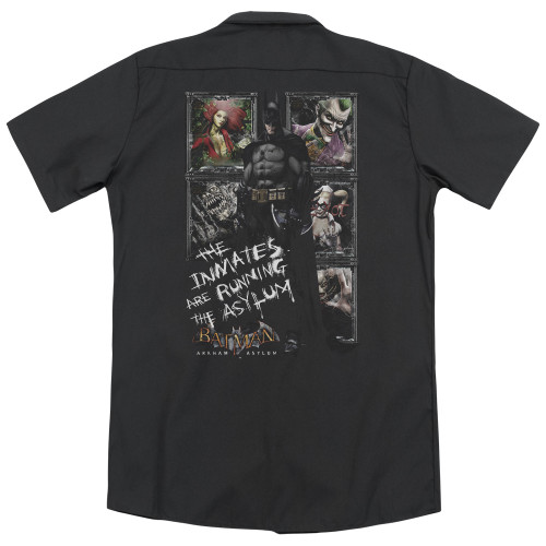 Image for Batman Arkham Asylum Dickies Work Shirt - Running the Asylum