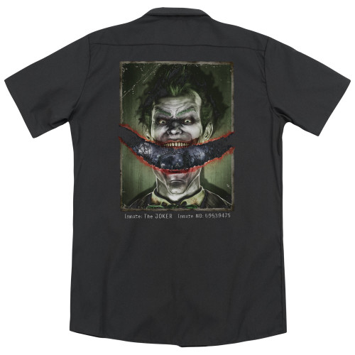 Image for Batman Arkham Asylum Dickies Work Shirt - Split Lip