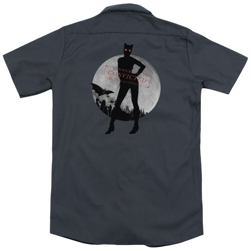 Image for Batman Arkham City Work Shirt - Catwoman Convicted