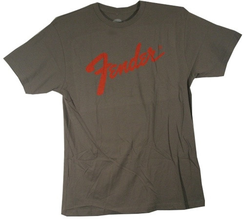 Image Closeup for Fender Charcoal T-Shirt
