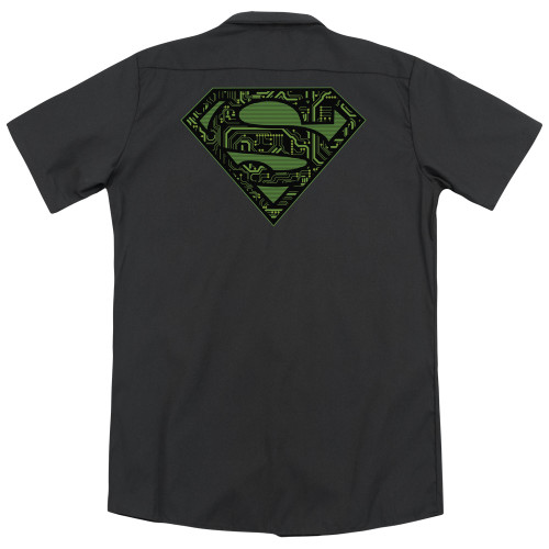 Image for Superman Dickies Work Shirt - Circuits Shield