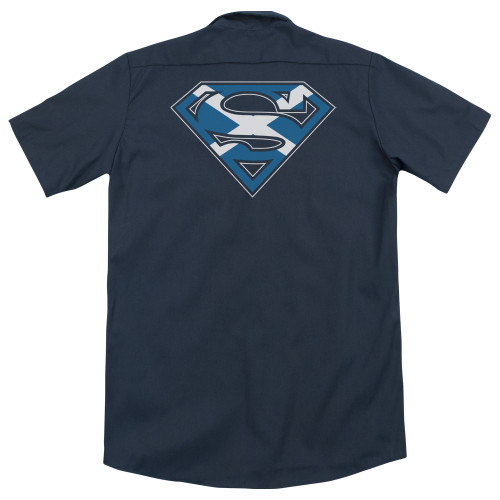 Image for Superman Dickies Work Shirt - Scottish Shield