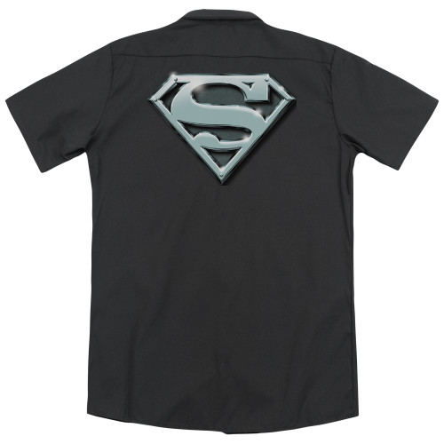 Image for Superman Dickies Work Shirt - Chrome Shield