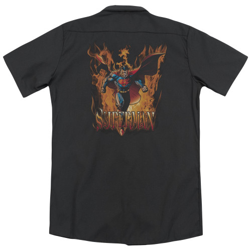 Image for Superman Dickies Work Shirt - Through The Fire