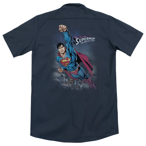 Image for Superman Dickies Work Shirt - Twilight Flight