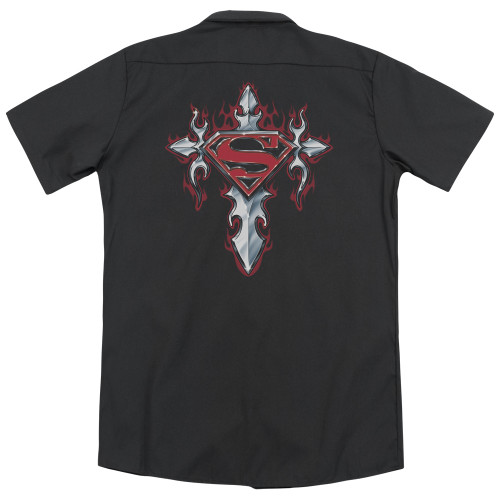 Image for Superman Dickies Work Shirt - Gothic Steel Logo