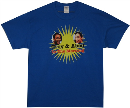 Image Closeup for Community Troy & Abed Morning Show T Shirt