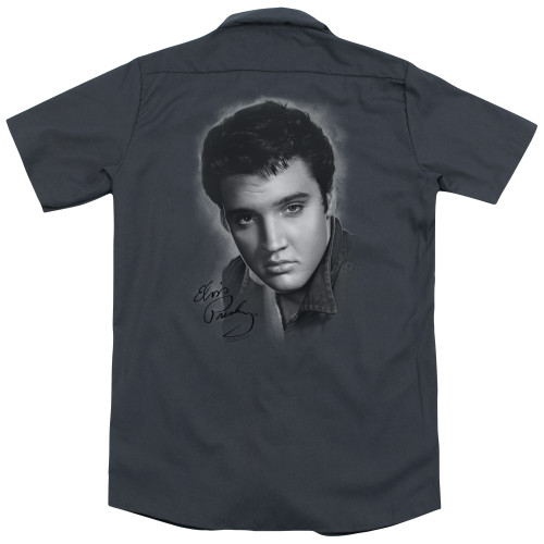 Image detail for Elvis Dickies Work Shirt - Grey Portrait