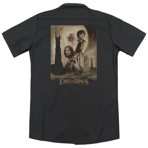 Image detail for Lord Of The Rings Dickies Work Shirt - the Two Towers Poster