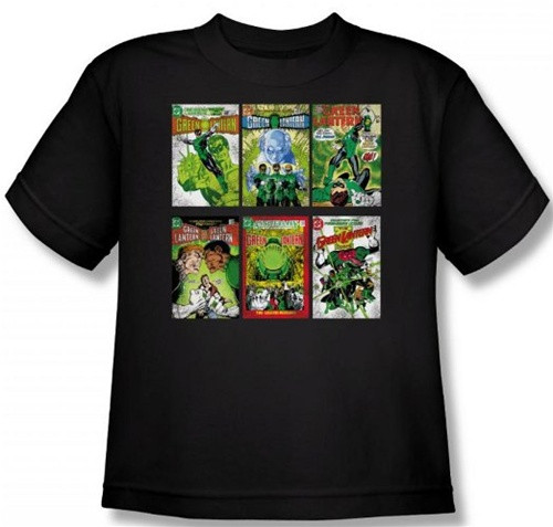 Image for Green Lantern Covers Youth T-Shirt