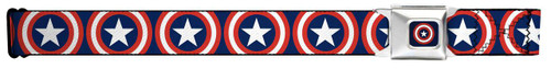 Image for Captain America Seatbelt Buckle Belt - Repeat