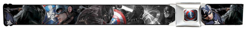 Image for Captain America Seatbelt Buckle Belt - Civil War Close-Up