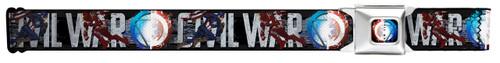 Image for Marvel Civil War Seatbelt Buckle Belt - Split Shield/Arc Reactor