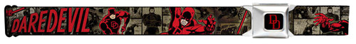 Image for Daredevil Seatbelt Buckle Belt - Action Poses